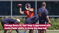Bears head coach Matt Nagy impressed with Justin Fields' deep ball