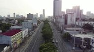 Drone footage captures Manila under lockdown