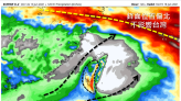 西南風挾帶水氣易降雨 5日累積降雨量預報圖出爐