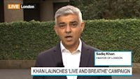 London Mayor Khan Fears `Perfect Storm' for Cost of Living