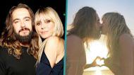 Heidi Klum Goes Topless While Locking Lips With Husband Tom Kaulitz In Romantic Beach Snap
