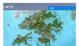 本港天氣顯著轉涼 清晨多區只有16至17度