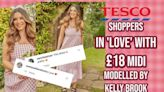 Tesco Shoppers In 'Love' With £18 Dress Modelled By Kelly Brook