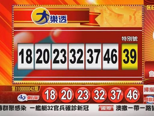 4/23 大樂透、雙贏彩、今彩539 開獎囉!
