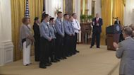 Trump presents Dayton police officers with medal of valor
