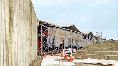 竹市漁港「海波浪」大棚架 6月完工