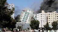 Israeli military airstrike targets media tower in Gaza