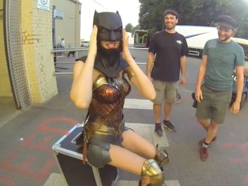 Gal Gadot brings out her 'inner bat' and dons Ben Affleck's mask in celebration of Batman Day
