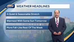 Video: Mild week ahead