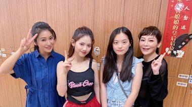 王彩樺2女兒顏值破表 探班《黃金》秒被導演邀約拍戲