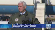 Vice President Pence Speaks To Sailors In Central California