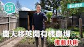 移民英國 英國後園變身有機種植場 香港農夫推「共耕」助港人落地生根   蘋果日報