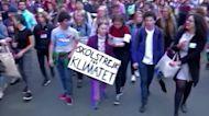 Greta Thunberg celebrates protest anniversary