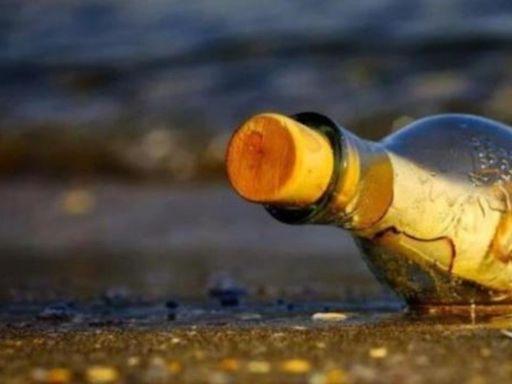 Una niña encuentra en una playa un mensaje en una botella enviado hace 37 años