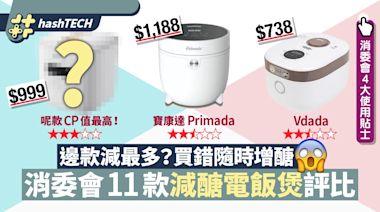 消委會11款減醣電飯煲評比 一千元貨醣份不跌反增 附4使用貼士|科技玩物