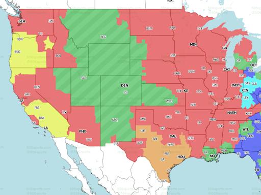 NFL broadcast map, Week 11: Ravens vs. Titans snubbed on the East Coast
