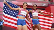 Sydney McLaughlin sets World Record, Americans pack men's 200M podium, and women's basketball marches on | What You Missed