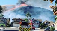 Gusty Winds Fuel Blue Ridge Fire Near Chino Hills, California