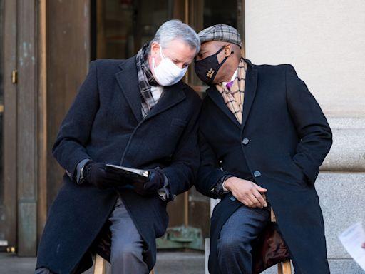 NYC Mayor de Blasio 'happy to hand off' to Eric Adams despite recent tensions