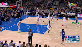 Georges Niang with an and one vs the Oklahoma City Thunder