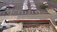 Drone Footage Details Extensive Tornado Damage to Pennsylvania Car Dealership
