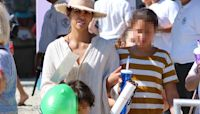 Halle Berry Steps Out With Kids Nahla, 11 & Maceo, 5 At Malibu Chili Cook-Off