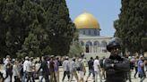 Hundreds of Jews visit contested holy site in Jerusalem