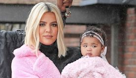 True Thompson, 1, Is Ready For Christmas In Adorable Red Party Dress With Mama Khloe Kardashian