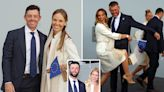 McIlroy and Rahm's wives support Europe's Ryder Cup stars dressed in cream