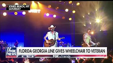 Florida Georgia Line gives wheelchair to veteran
