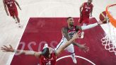 US bounces back from Olympic-opening loss, routs Iran 120-66