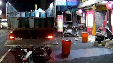 女大生追撞停路邊收廚餘回收車受傷送醫 肇責警調查釐清