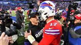How Josh Allen, John Harbaugh bonded at The Masters