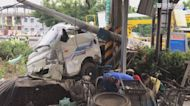 貨車酒駕撞斷電線桿 台電人員急搶修