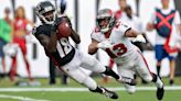 Falcons' Ridley 'flying around' in return after missing week