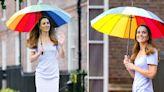 Kate Middleton Looks Lovely In Lavender L.K. Bennett Dress, Colorful Umbrella At Launch Of The Royal ...