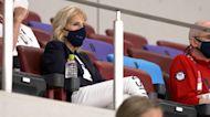 Jill Biden cheers for U.S. women's soccer team at Olympics