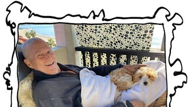 Jeff Bridges reveals shaved head and new puppy in health update