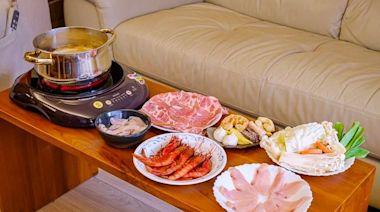 限量紅蝦狂流蝦膏! 宅配宜蘭超澎湃海鮮鍋 必吃紅燒透抽鮮甜Q彈
