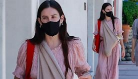 Scout Willis dons floaty prairie dress as she takes a stroll in Ojai
