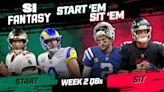 Start 'Em, Sit 'Em Week 2: Quarterbacks