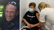 Boy gets COVID vaccine for 12th birthday to honor dad