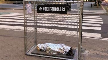 Art Installations Depict 'Children' in Cages Around NYC
