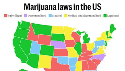 Here's A Map Of Where You Can Buy Weed Legally in the United States