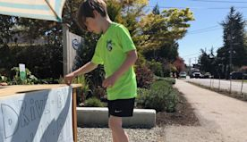 This six-year-old boy set up a joke stand to give neighbors a laugh during quarantine