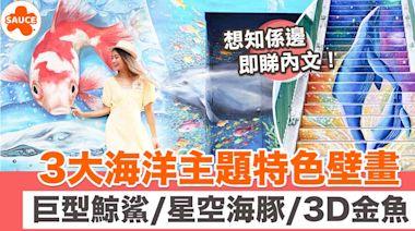 3大海洋主題特色壁畫打卡位!巨型鯨鯊隧道/星空海豚樓梯/3D金魚牆 唔洗落海都可以做到小美人魚!|SAUCE為生活加一點味道