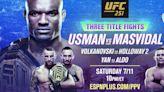 UFC Fight Island debut features South Florida's Jorge Masvidal, Kamaru Usman, Amanda Ribas
