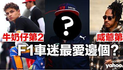 我最喜愛F1車手投票出爐!女車迷冧爆諾里斯 咸美斯只排第三 邊個先係大贏家?