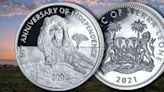 Lion in the Mountains $10 Silver Coin Commemorates 60 Years of Indepdence