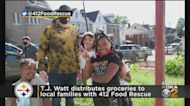TJ Watt Volunteers With 412 Food Rescue